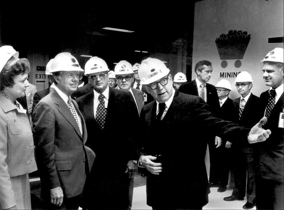 Pres. Jimmy Carter with Bill Wilcox Oak Ridge 1978