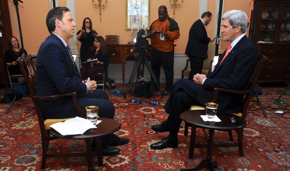 Secretary Kerry Holds One-on-One Interview With CNN's Tapper
