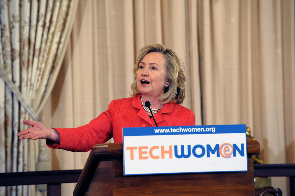 Secretary Clinton Delivers Remarks for the TechWomen Initiative