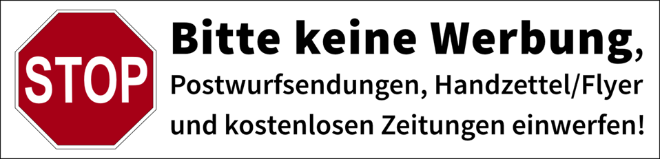 Postbox label 'No advertisements' (german)