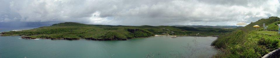 Talofofo Bay mosaic, Guam coastline.