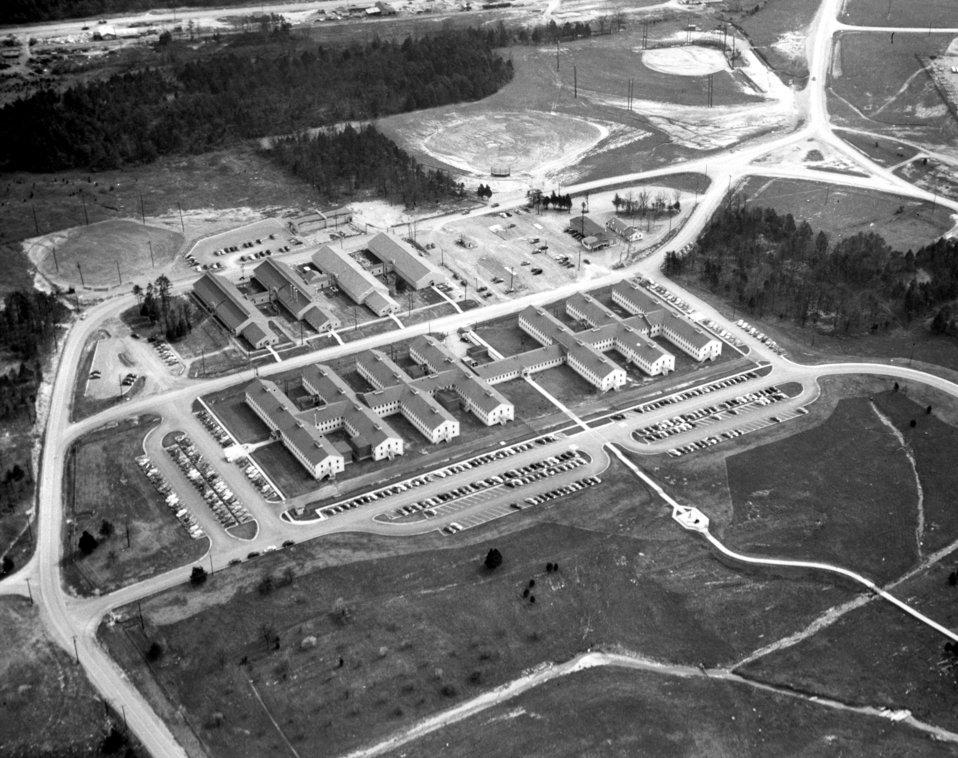 Aeiral View of AEC Administration Bldg. Oak Ridge 1950