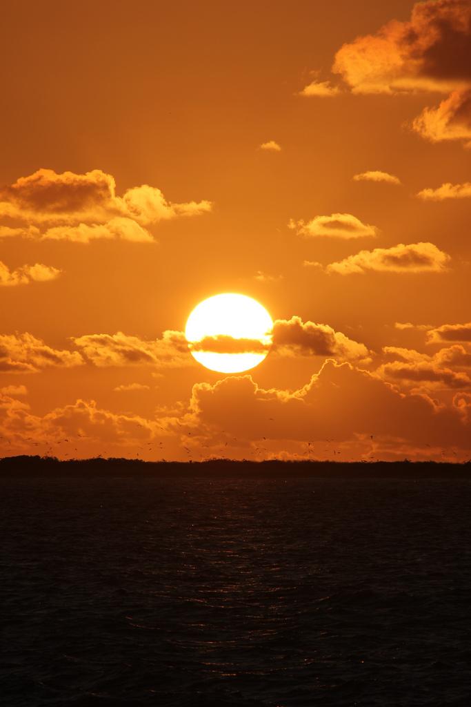 sunrise over Eastern Island