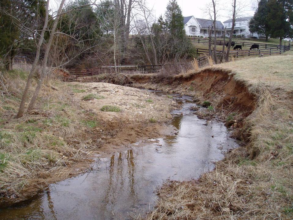 Beaver Run Eroded Streambank Before Construction