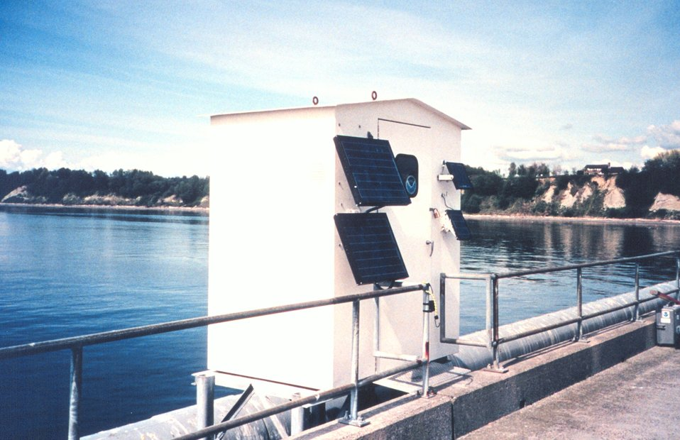 The tide house which houses an A.I.&NXG tide gage installation.