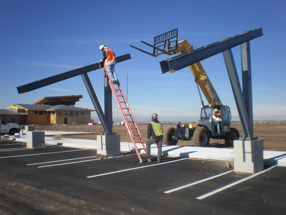Installing Photovoltaic Panels at Rocky Mountain Arsenal National Wildlife Refuge