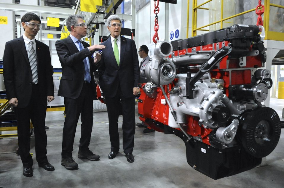 Secretary Kerry Tours Chinese Automotive Factory