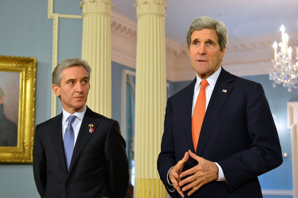 Secretary Kerry and Moldovan Prime Minister Leanca Address Reporters
