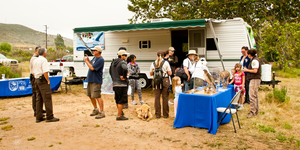 Mobile 'education trailer' out on the Refuge on Earth Day 2012