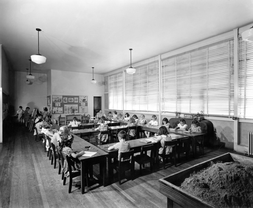 Clinton Engineering Works Elementary School Interior Oak Ridge 1944
