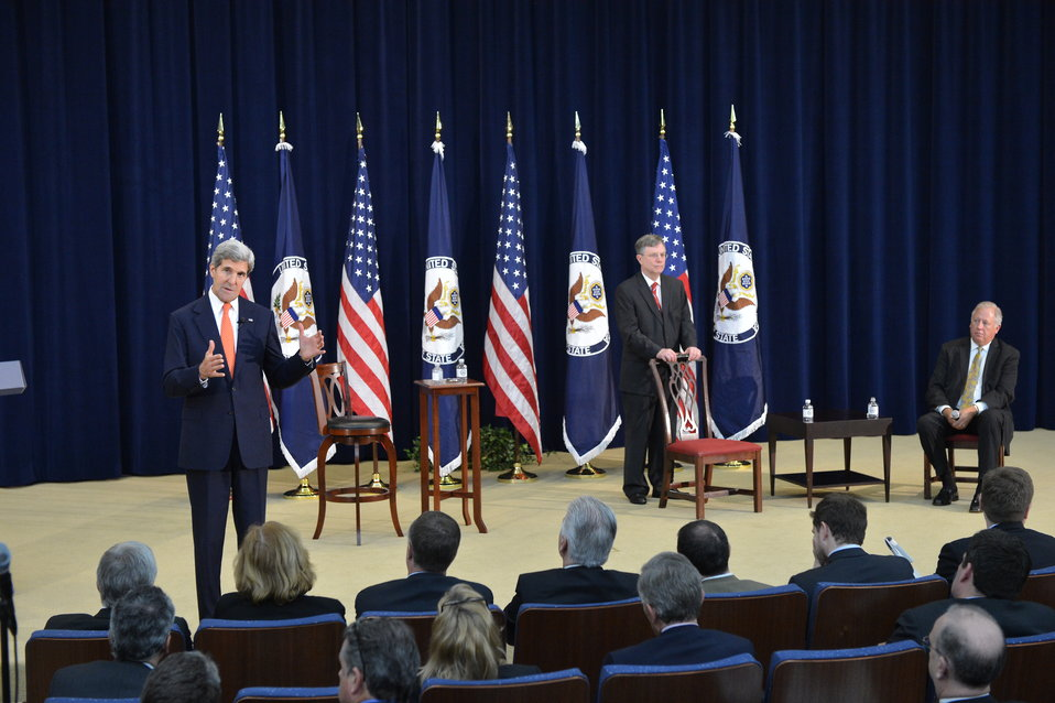 Secretary Kerry Speaks With State Department Employees