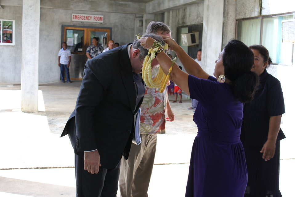 Assistant Secretary Campbell Arrives at Pohnpei State Hospital