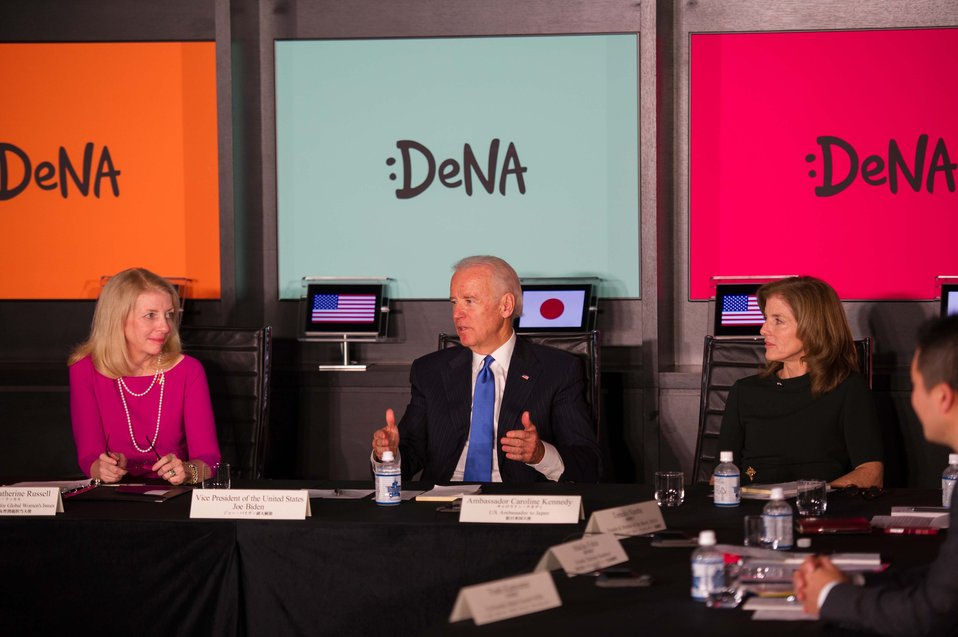 Vice President Biden Participates in a Discussion on Women's Role in the Economy