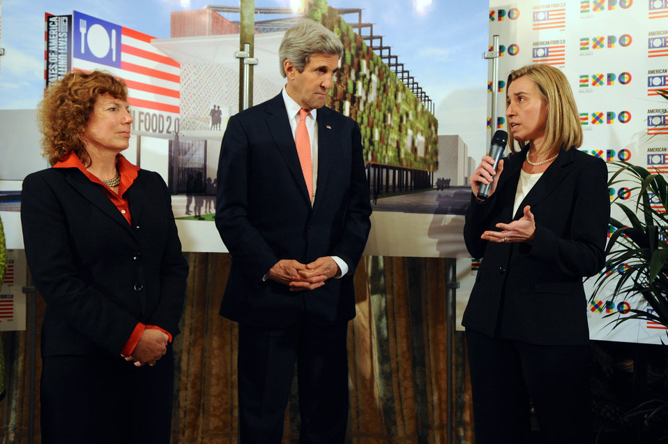 Italian Foreign Minister Mogherini Salutes U.S. Participation in Milan Expo 2015