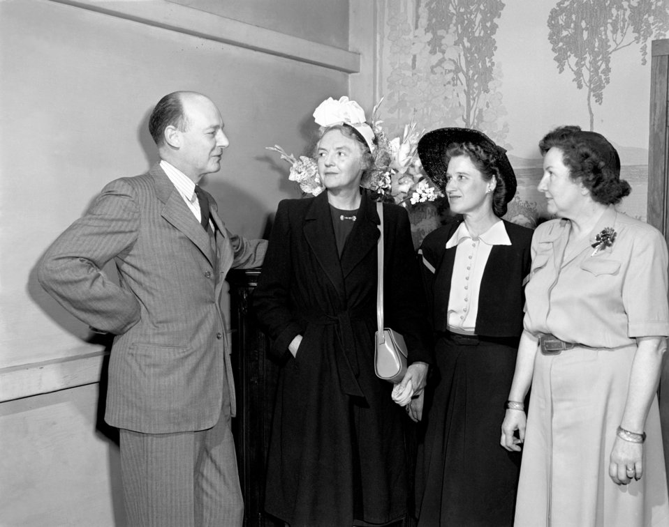 Mr. and Mrs. Hume  Wrong, Mrs. Soe, and Mrs. Long Oak Ridge 1947