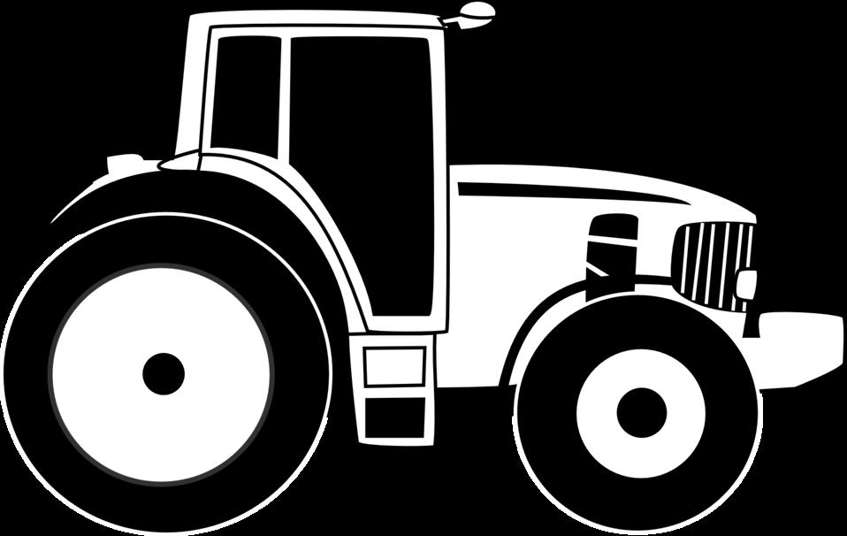 Farm tractor b&w