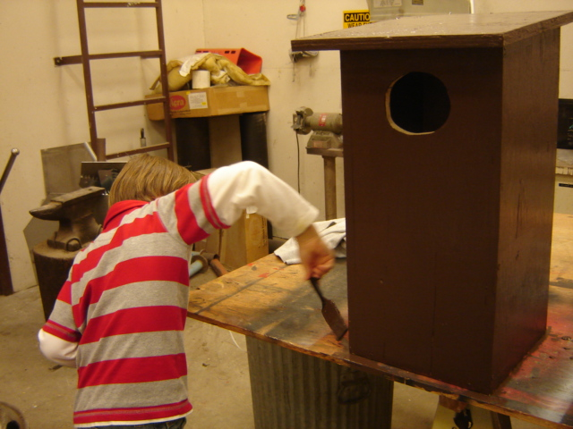 Painting a Bird House