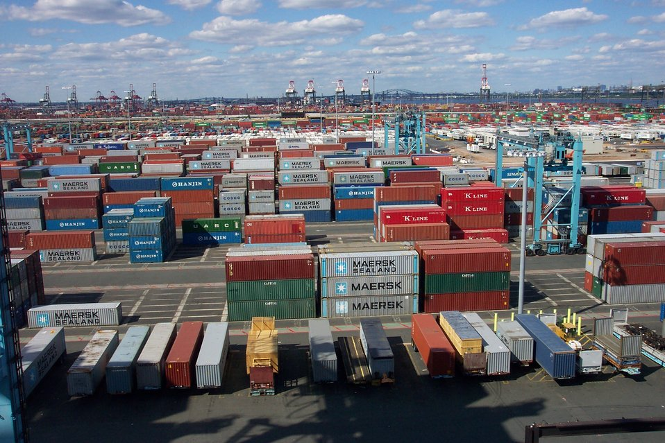Thousands of shipping containers at the terminal at Port Elizabeth, New Jersey.