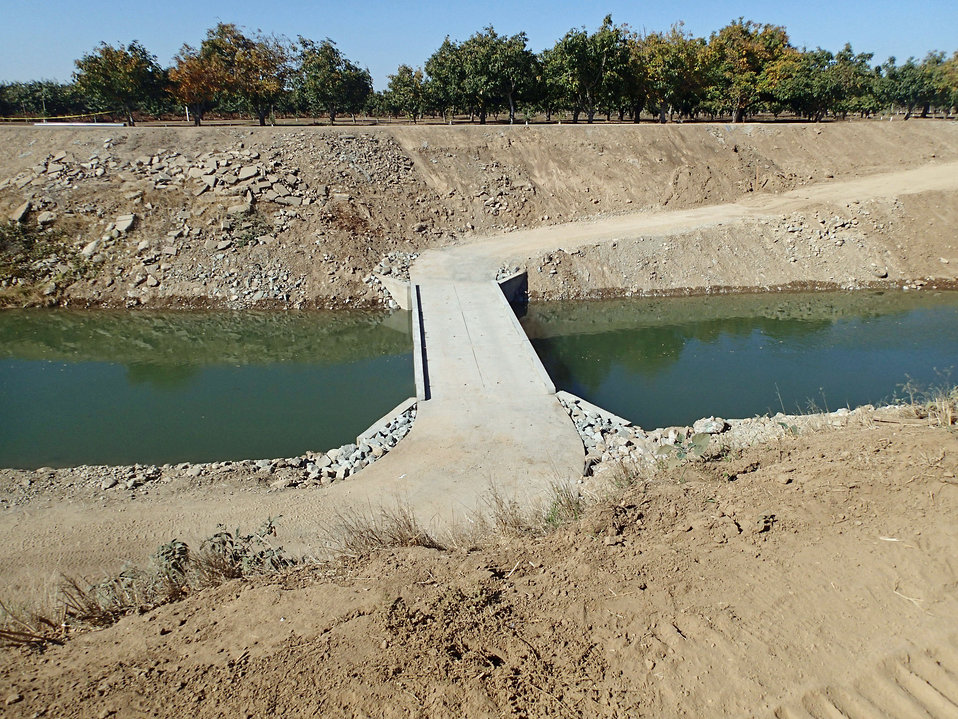 Aerial view of Calaveras River Fish Passage Project