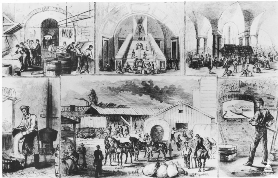 Capitol Subbasement in 1861