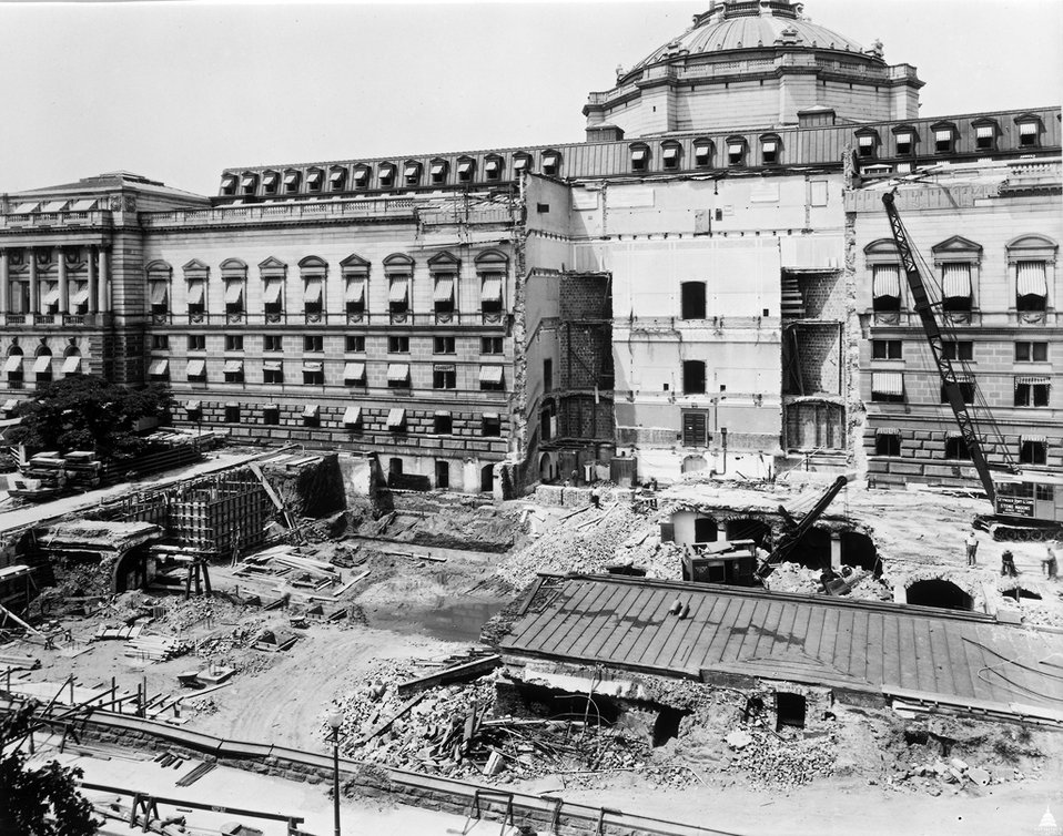 Library of Congress Thomas Jefferson Building Construction