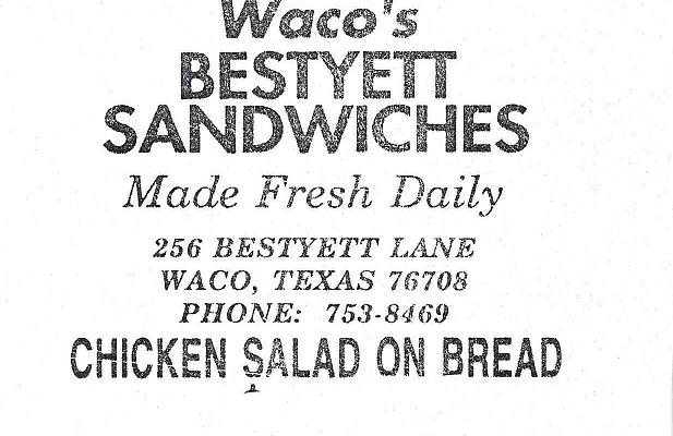 RECALLED - Waco's Bestyet Sandwhiches Chicken Salad on Bread