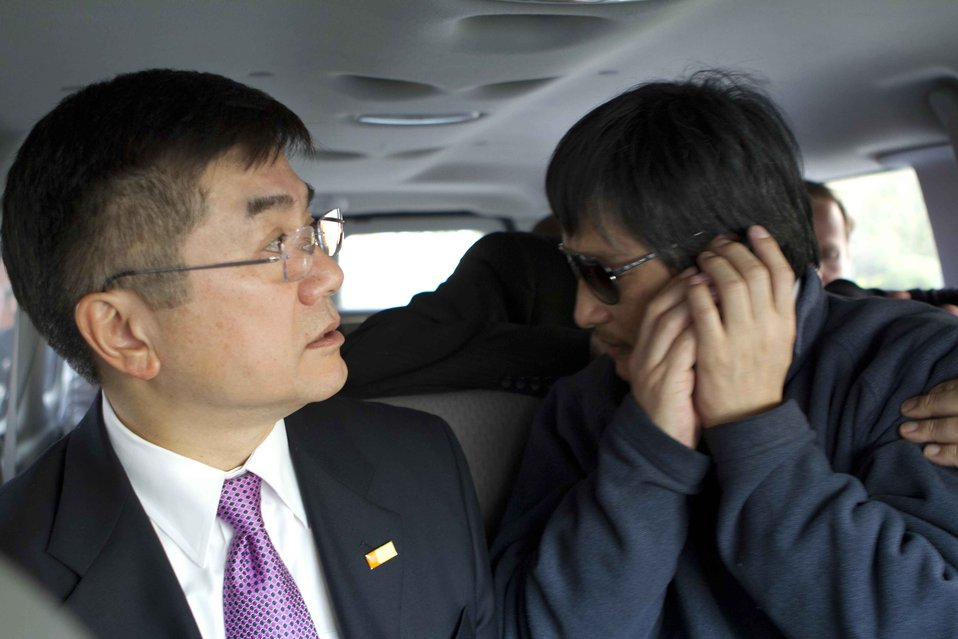 Ambassasdor Locke With Chen Guangcheng