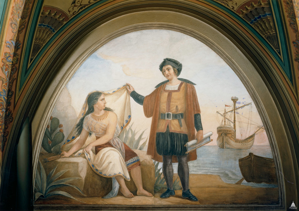 Columbus and the Indian Maiden