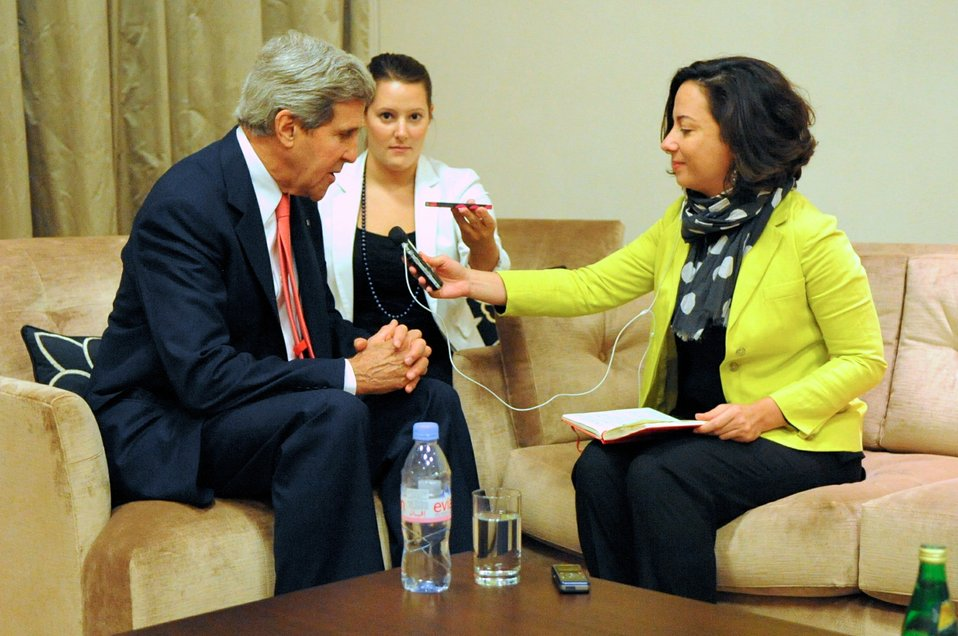 Secretary Kerry Conducts Interview With BBC's Ghattas