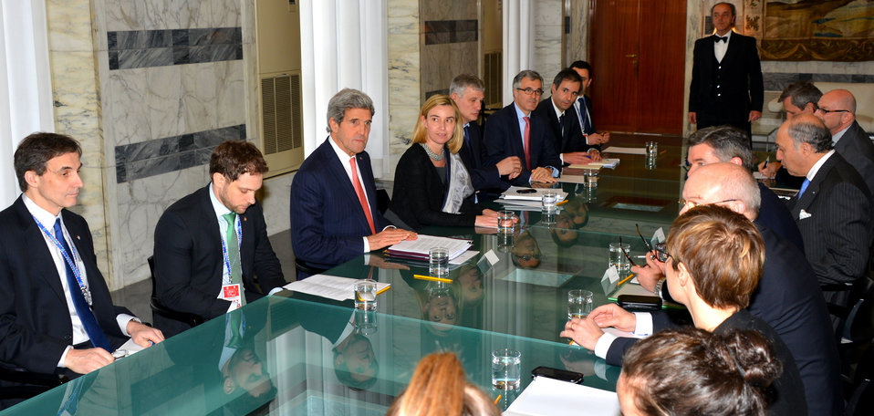 Secretary Kerry Meets With Italian Foreign Minister Mogherini and French Foreign Minister Fabius