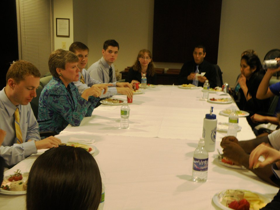 Assistant Secretary Gottemoeller Hosts a Lunch With Summer Interns