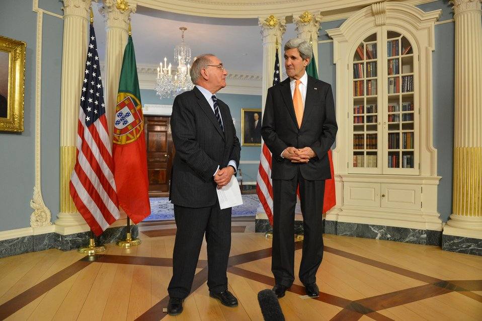 Secretary Kerry and Portuguese Foreign Minister Machete Address Reporters