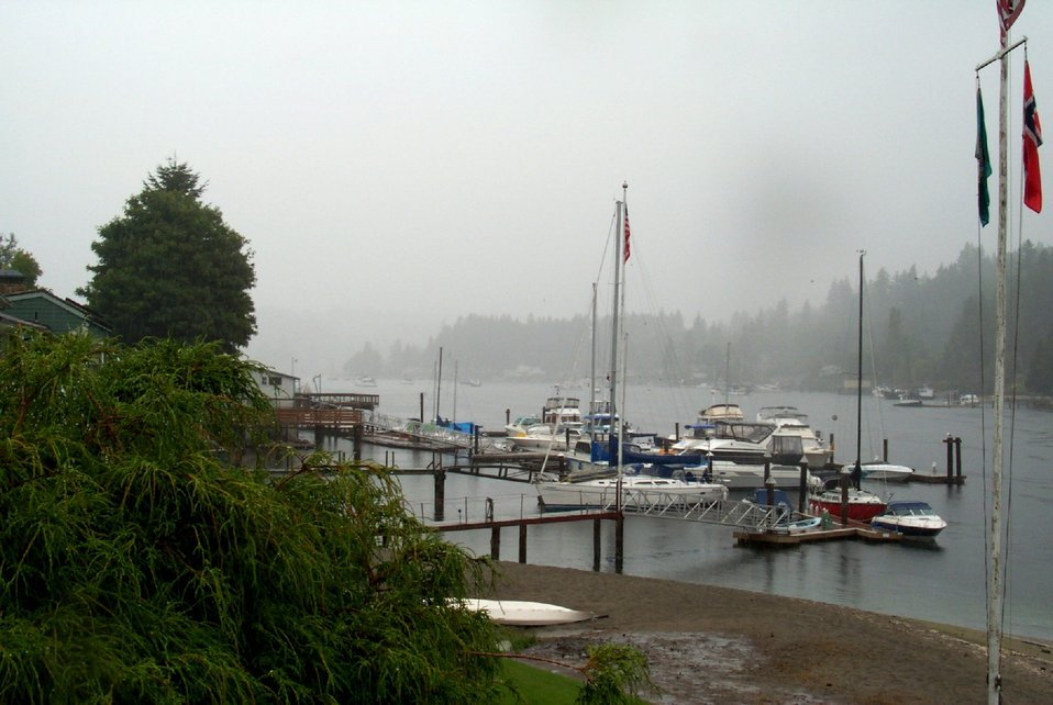 A rainy day inside of Gig Harbor.