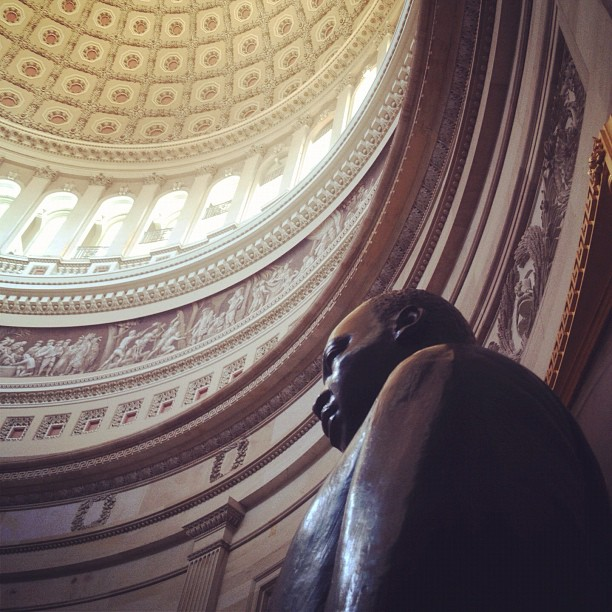Dr. Martin Luther King, Jr. in the Capitol Rotunda.