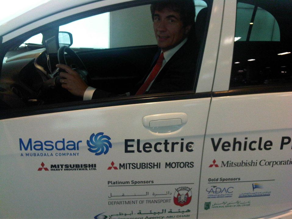 Assistant Secretary Fernandez Drives an Electric Car