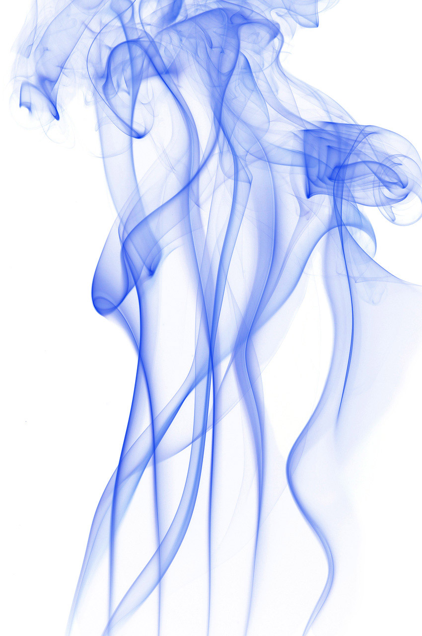 Silhouette of colored smoke