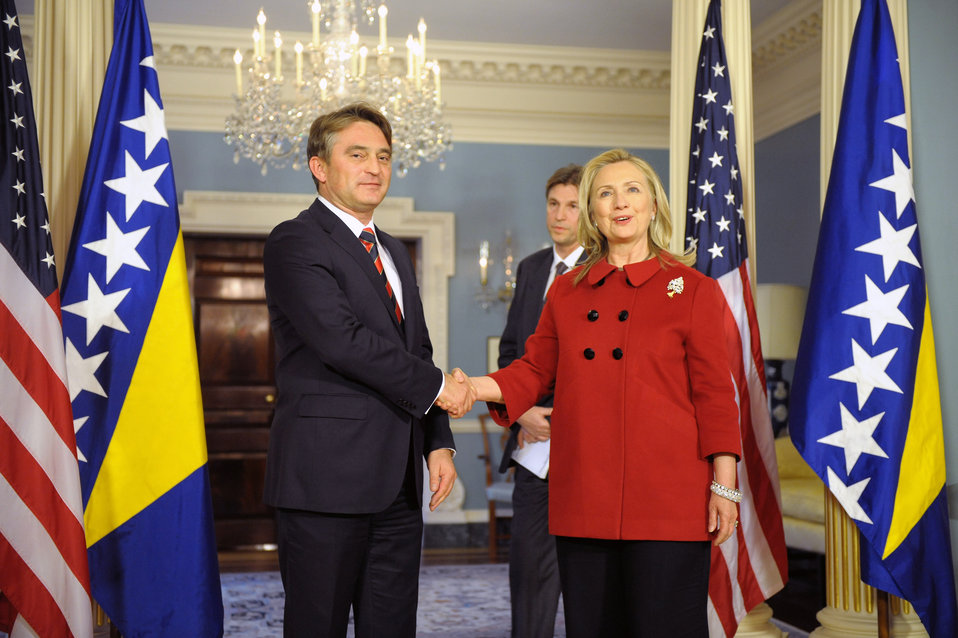 Secretary Clinton Meets With President of Bosnia and Herzegovina Zeljko Komsic