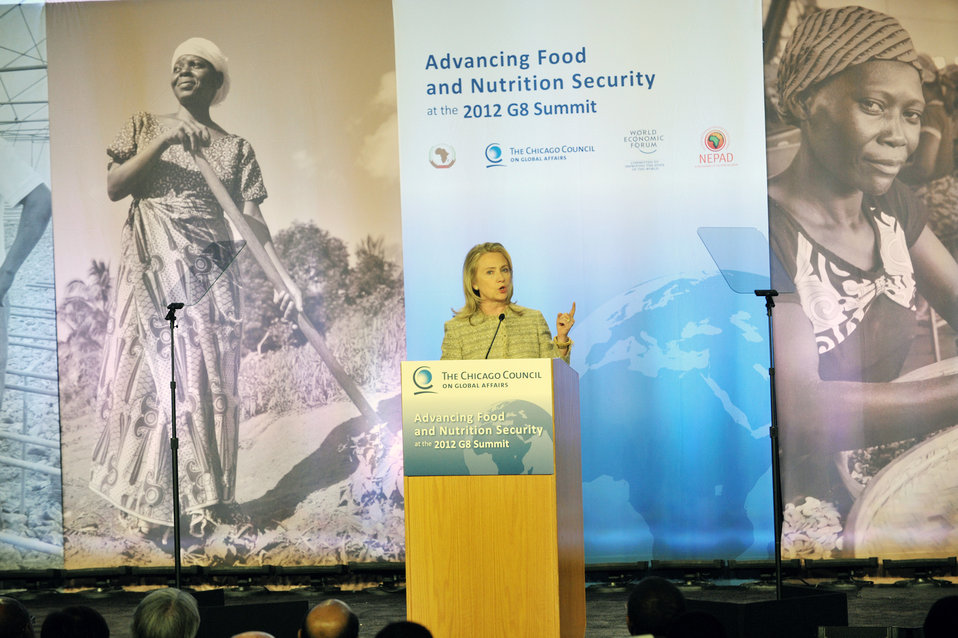 Secretary Clinton Delivers Remarks on Global Food Security
