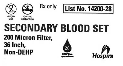 RECALLED – Blood sets used for the administration of blood and blood products