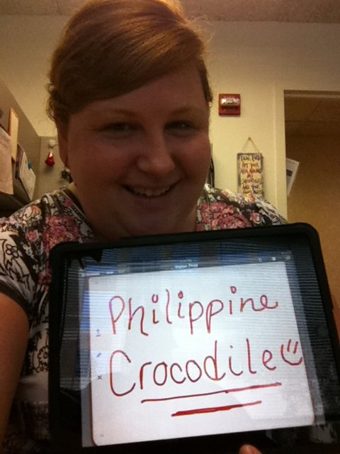 Allison LePage, 'Philippine Crocodile,' Credit: USFWS