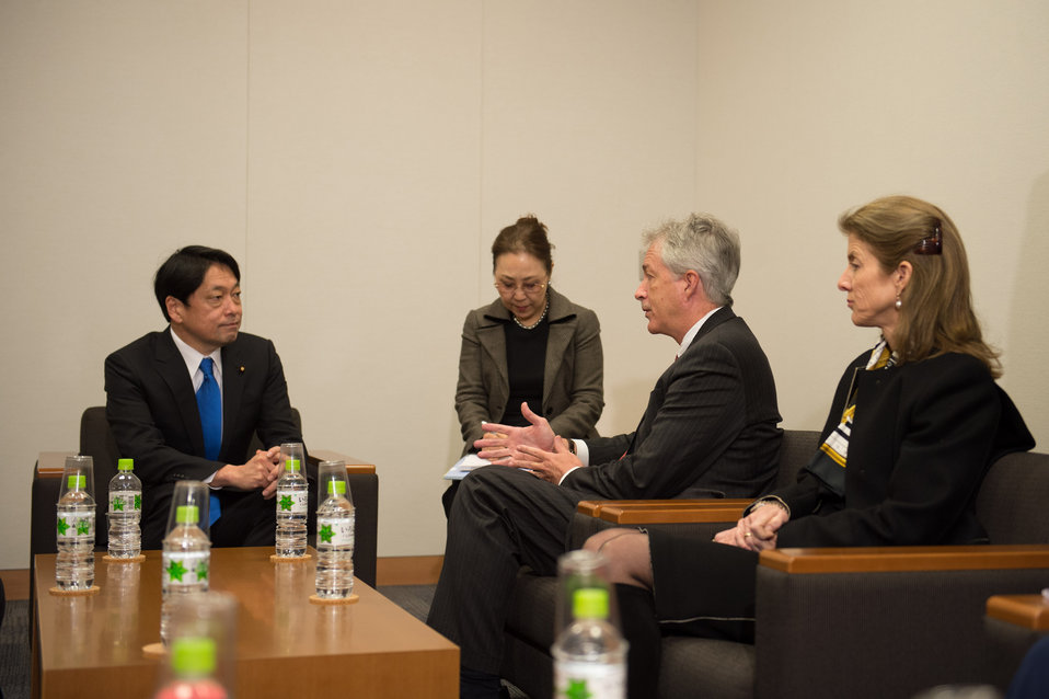 Deputy Secretary Burns with Japan's Defense Minister Onodera