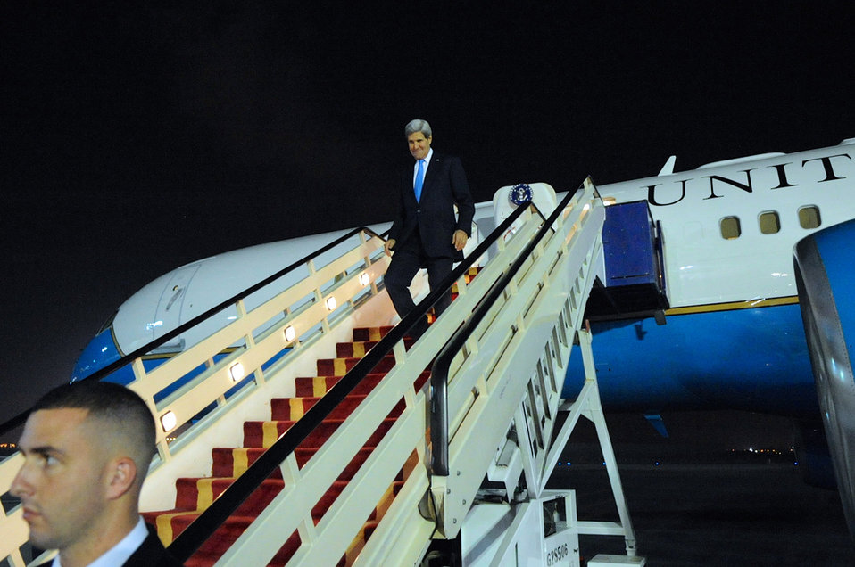 Secretary Kerry Arrives in Saudi Arabia
