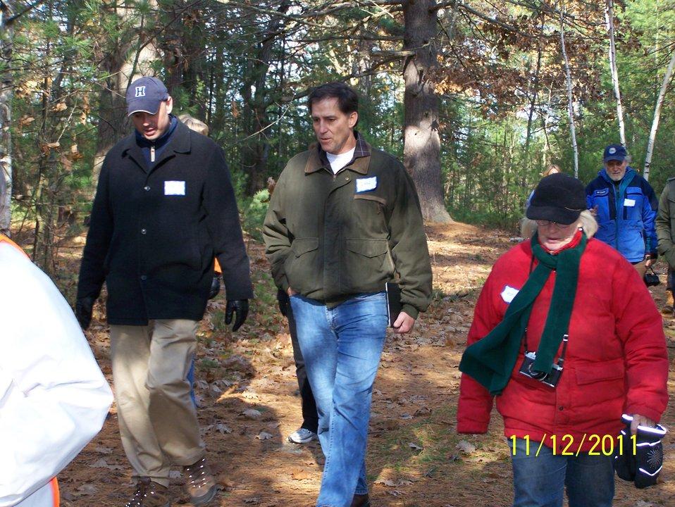Dan Ashe with State Senator Eldridge and Friends of Oxbow President Rona Balco at Oxbow NWR