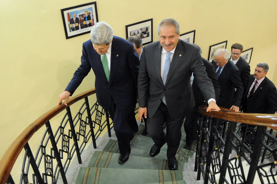 Jordanian Foreign Minister Judeh Welcomes Secretary Kerry