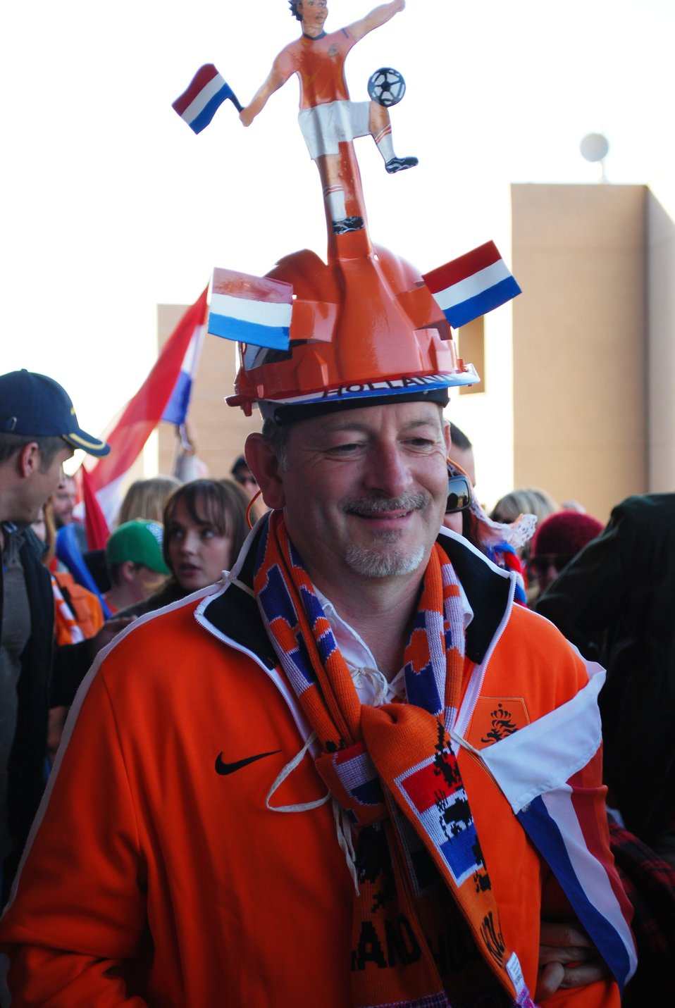 A Dutch Fan Shows His Pride