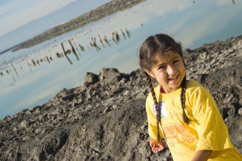 Girl at Don Edwards San Francisco Bay National Wildlife Refuge