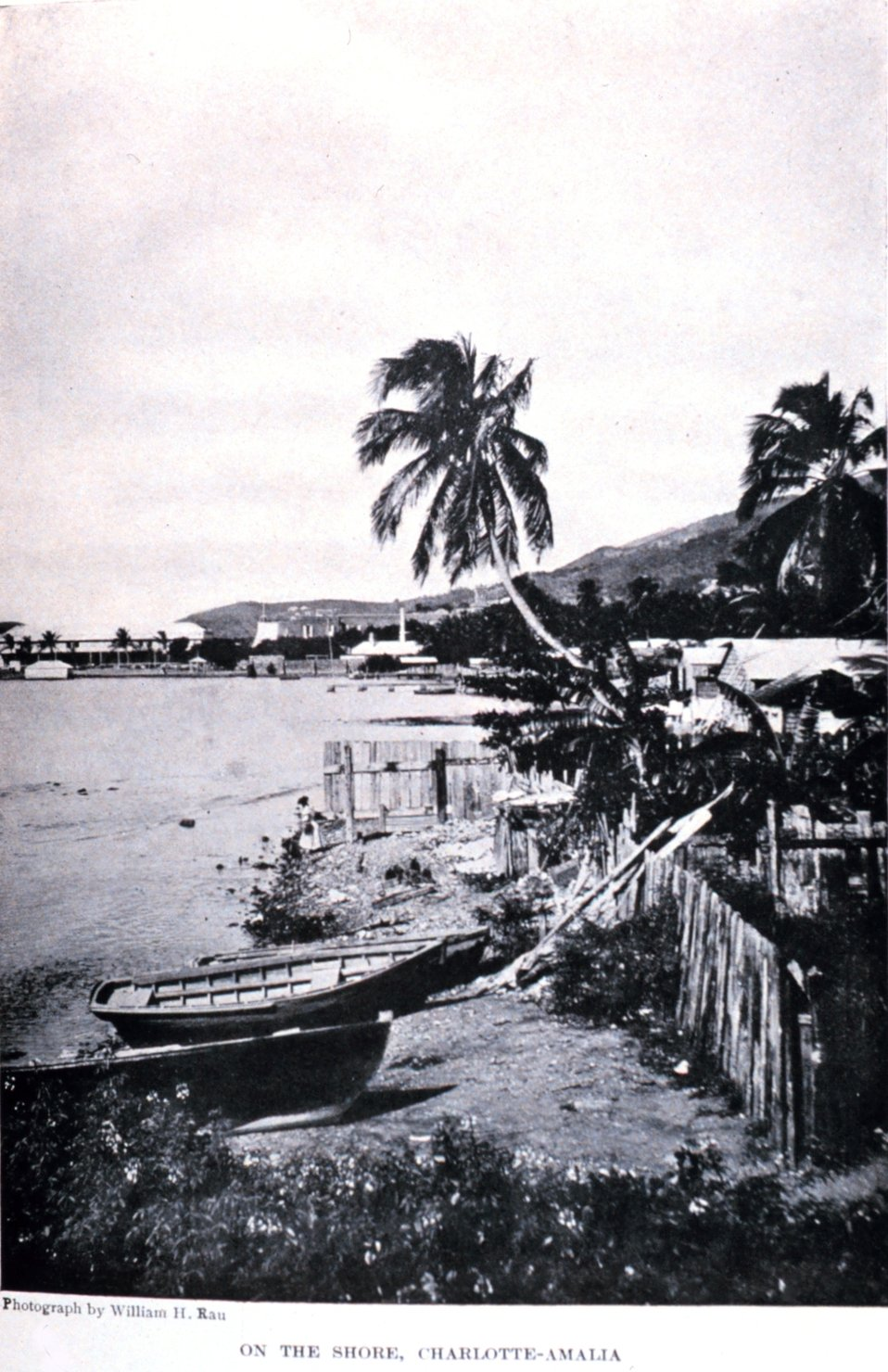 'On the Shore, Charlotte-Amalia.'  In: 'The Virgin Islands Our New Possessions and the British Islands', by Theodoor De Booy and John T. Faris, 1918.  J. B. Lippincott and Company, Philadelphia.  P. 266.  Library Call Number C/hc100 V81 B.