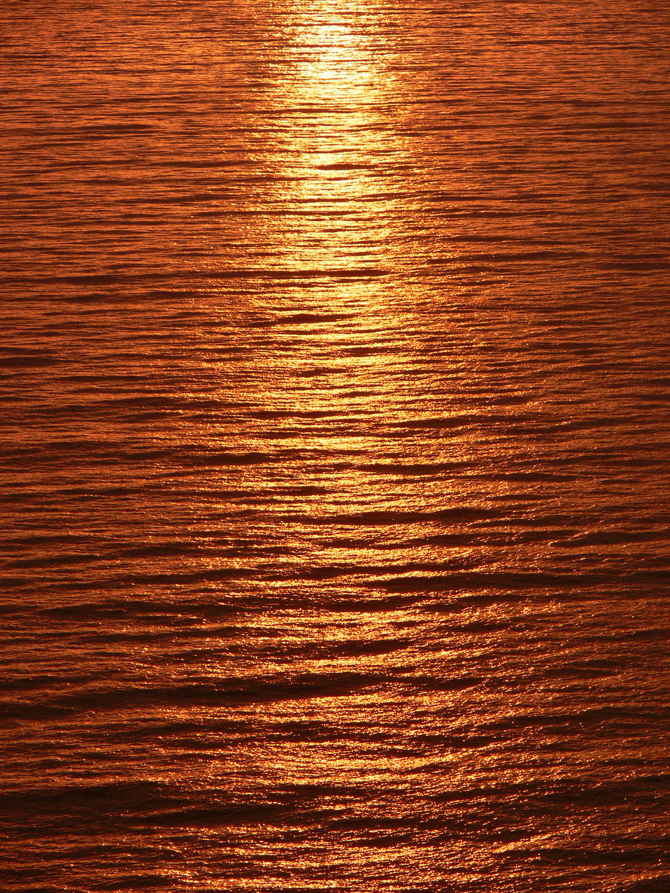 Sunset light over sea