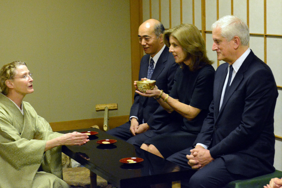 Ambassador Kennedy Participates in a Tea Ceremony