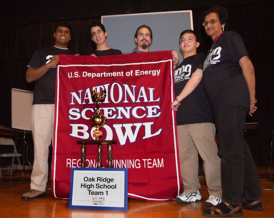 DOE Science Bowl Pellissippi State  Winning Team Oak Ridge High School